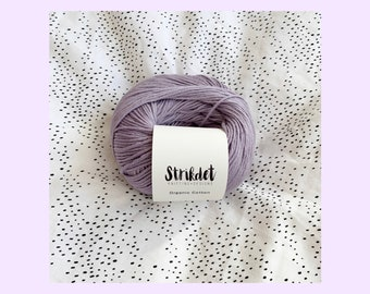 STRIKDET Organic Cotton Light lavender / Økologisk Bomuld - lys lavendel