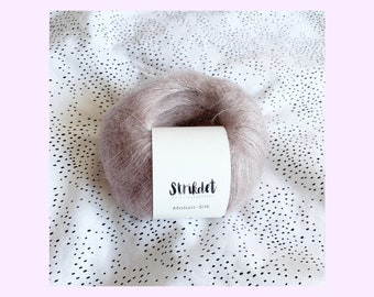 MOHAIR SILK støvet rosa / dusty rose