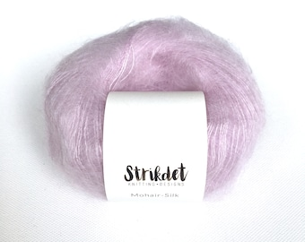 MOHAIR-SILK lys syren / light lilac