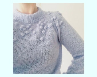 LIGHT BUBBLE sweater  -  Strikkeopskrift (pdf)- DK (danish)