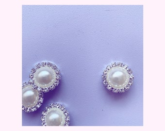 Vintage look pearl button 18 mm  // Vintage look perle knap 18 mm