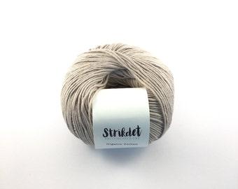 STRIKDET Organic Cotton Sand / Økologisk Bomuld - Sand