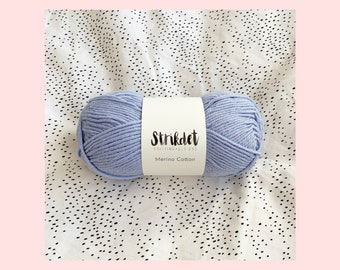 STRIKDET Merino Cotton - lyseblå / light blue