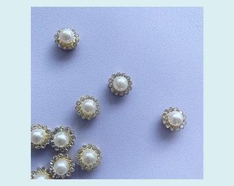 Vintage look pearl button 12 mm  // Vintage look perle knap 12 mm