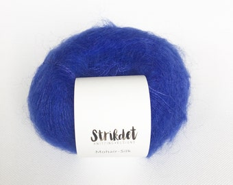 MOHAIR-SILK klar blå / bright blue