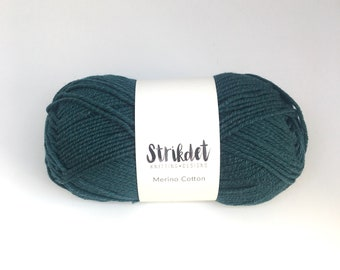 STRIKDET Merino Cotton - Skovgrøn / forrest green