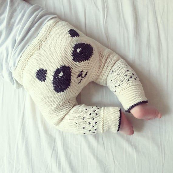 The Panda Pants - Knitting Pattern - PDF - English