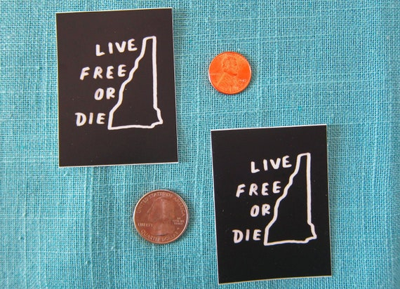 """1 /""""Live Free or Die/"""" New Hampshire Vinyl Bumper Sticker Decal FREE SHIPPING!"""