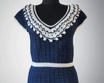 Crochet top Mia. Handmade women sea-style crochet top. Free shipping. Made to order.