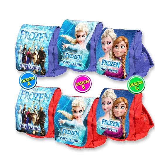 Personalised Kids Backpack Any Name Frozen Girl Childrens School Bag