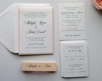 Blush Wedding Invitations, Wedding Invitations, Blush Pink Wedding Invitations, Pink Wedding, Vintage Wedding Invitations- S028
