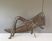 Copper Grasshopper Weathervane - Weather Vane Topper - American Folk Art - Hand Made Metal Insect - Giant Copper Bug