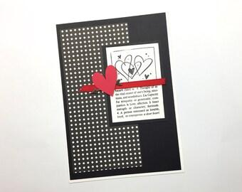 Handmade Greeting card: heart definition