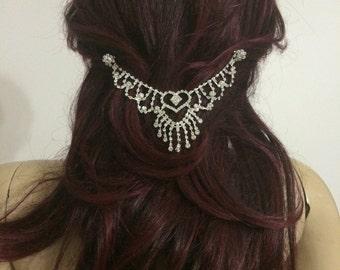 30% OFF, Wedding Head Chain, Bridal Hair Jewelry, Head Piece, Hair accessories,Bridal Hair Clip,  model *155