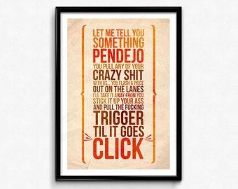 The Big Lebowski Quote Poster/Print - Til It Goes CLICK! - Jesus Quintana, The Dude Print, Lebowski Quote Poster, CtrlAltGeek