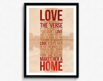 Firefly Quote Poster/Print (Light) - Love Keeps Her In The Air Quote, Serenity, Nathan Fillion, Browncoats, Malcolm Reynolds, CtrlAltGeek