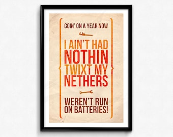 Firefly Quote Poster/Print - Twixt My Nethers - Kaylee Poster/Print - Kaylee Frye, Serenity, Browncoat, Nathan Fillion, CtrlAltGeek