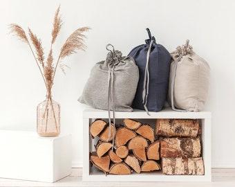 Linen laundry bag, Ticking laundry bag, Large storage bag, Dorm laundry bag, Various colors available, Custom size
