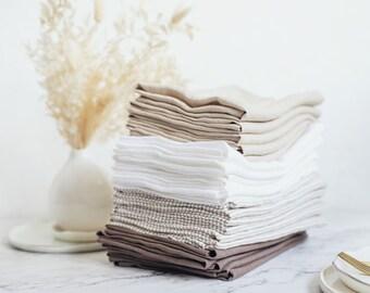 Linen Napkin, Cloth Napkins Set, Dinner Napkins Linen, Bulk Linen Napkin, Wedding Napkins, Table Decor, Housewarming Gift, Table Linen