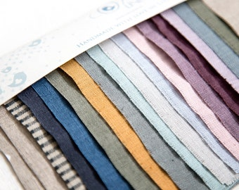 LINEN SAMPLES swatches of pure baltic linen - Softened linen fabric color palette