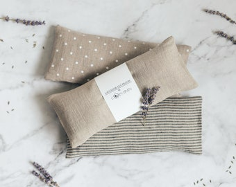 Eye Pillow, Lavender and FlaxSeed Eye Mask, Floral Aromatherapy, Yoga Gift, Spa Sleep Relaxation Stress Relief Eye Pillow, Eco Friendly