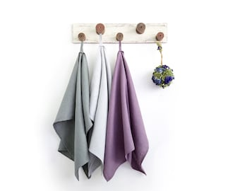 Linen kitchen towels set in beautiful colors, Natural linen tea towels, Sustainable and eco-friendly dish towel