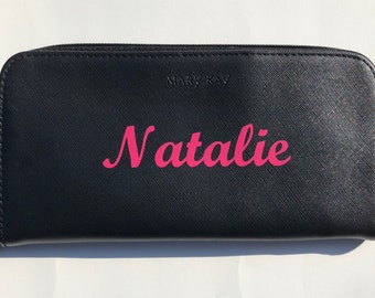 Monogramed name decal for Mary Kay Brush Set / not including set / cute / MK / pink / prize / promotion