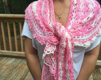 Handmade crochet shawl, scarf