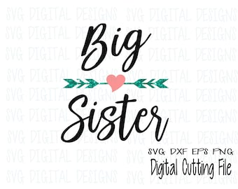Sister Svg Bundle Big Sister Little Sister Middle Sister Svg Etsy