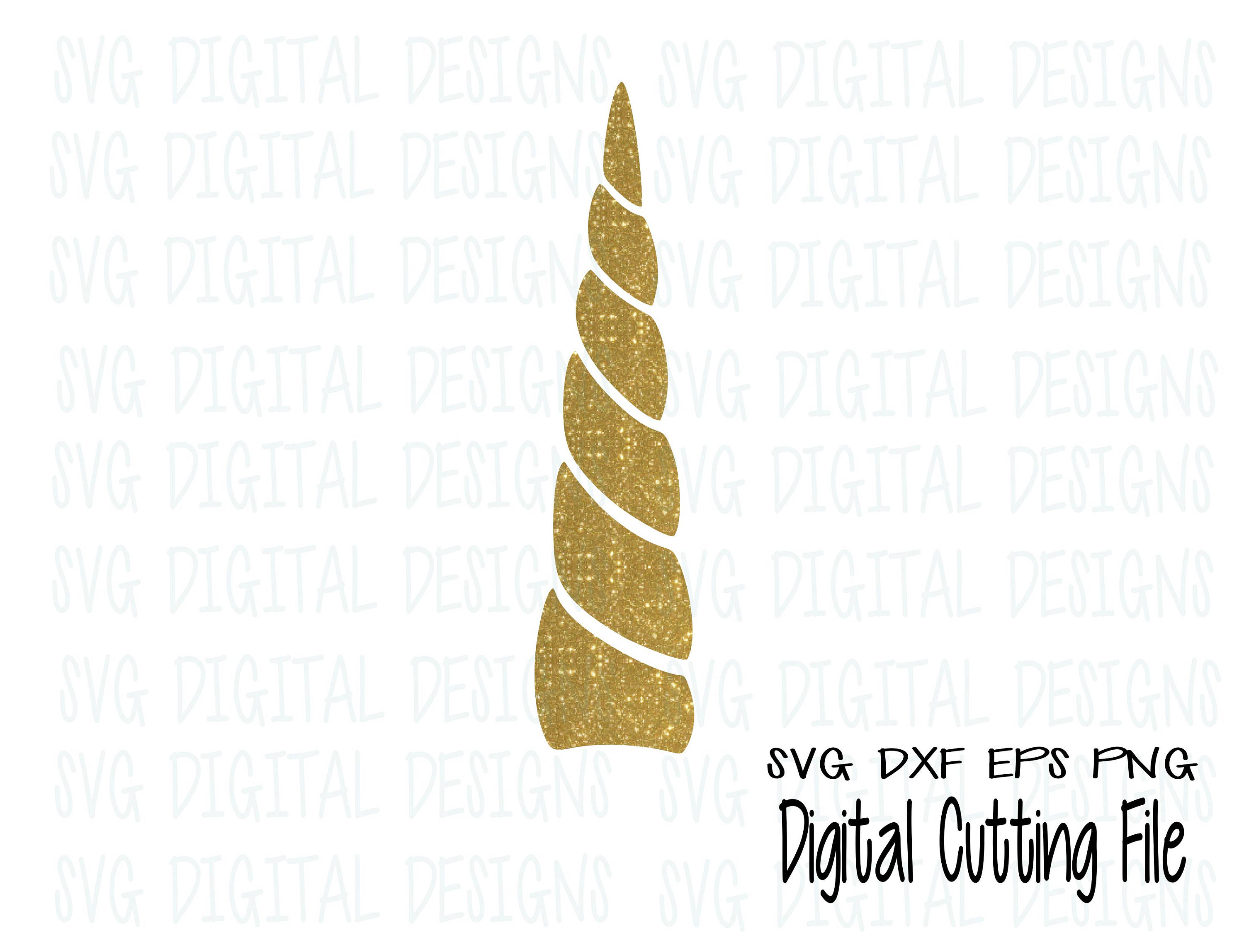 picture regarding Unicorn Horn Template Printable identified as Unicorn Horn Svg lower record - Golden Unicorn Horn SVG Style documents Wonderful for Silhouette Cricut - Svg Dxf Eps Png SVGDigitalDesigns