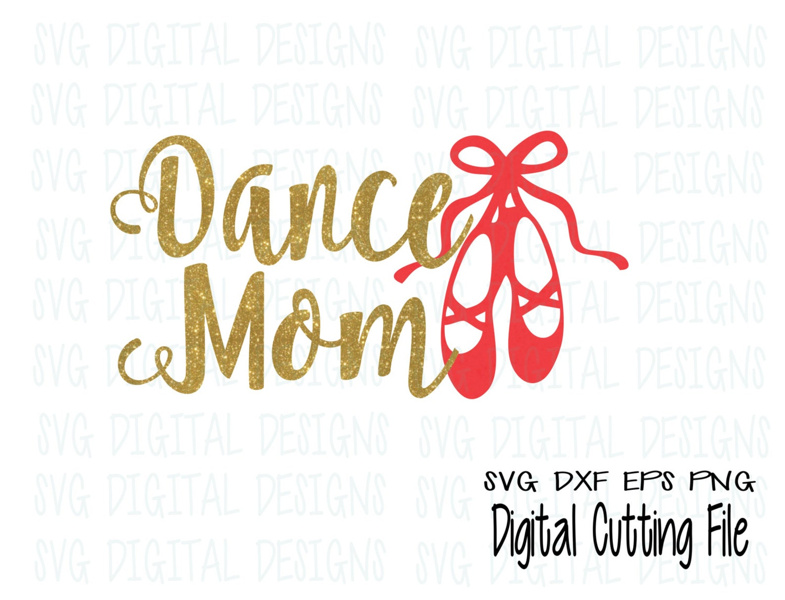 dance mom svg cut files - ballet shoes svg vinyl cutting files for silhouette, cricut, and more! eps dxf svg vector dance files