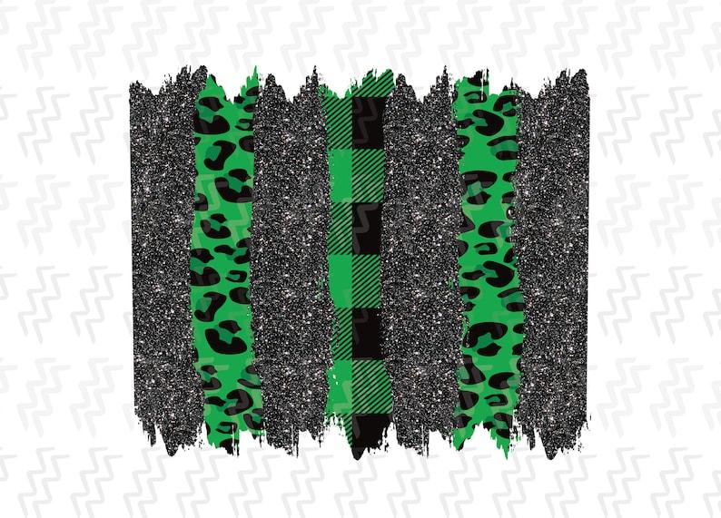 Digital Printable Background Set Digital Download Sublimation File Black Glitter /& Buffalo Plaid Leopard Brush Strokes PNG File