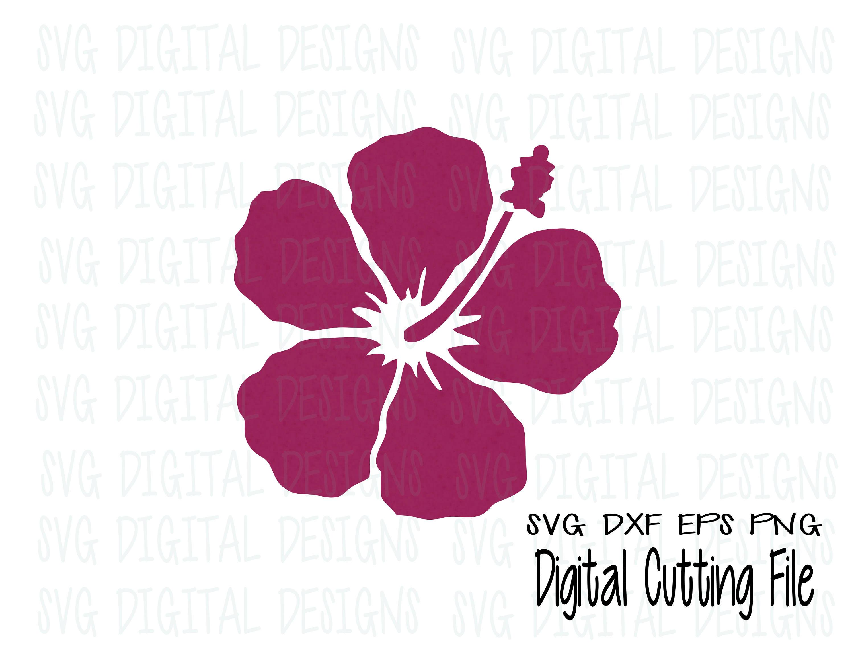 Hibiscus Flower Svg Digital Vinyl Cut File Tropical Flower Etsy