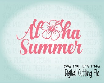 Aloha Summer SVG File Beach Quote Aloha Svg Saying   Summer Svg Cut Files  Great For