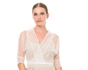 Bridal Bolero,Light Chiffon Jacket, Wedding accessories, Chiffon Jacket, Bridal Jacket, Wedding Jacket, Bridal cover-up, White bolero
