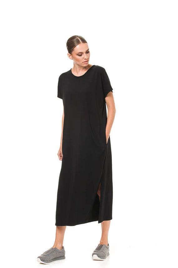7a54136c403d Black maxi dress Kaftan dress Kaftan maxi dress Plus size