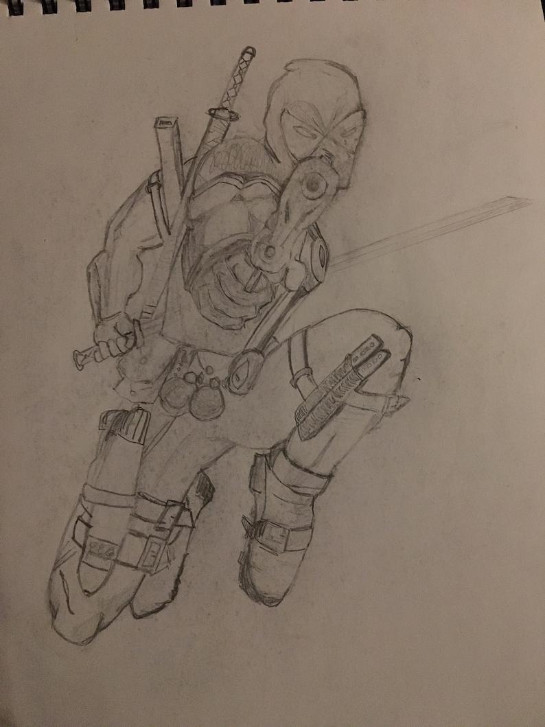 Deadpool pencil sketch