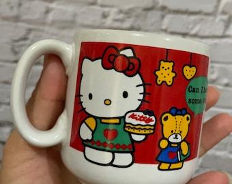 Vintage 1990 Sanrio Hello Kitty Coffee Mug