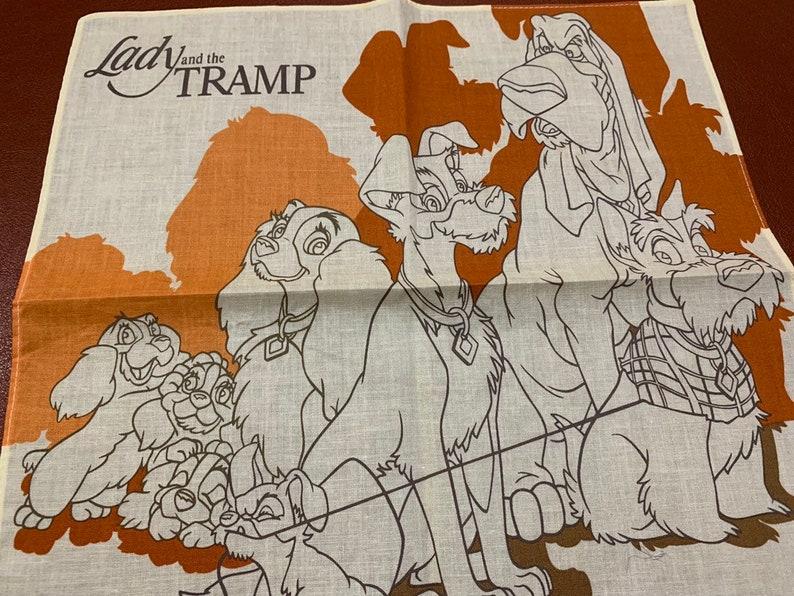 Vintage kid/'s Handkerchief Disney Enterprises Lady and the Tramp from Japan