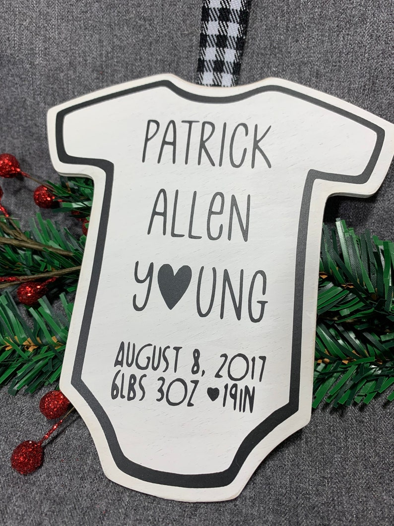 New Baby Gift Baby\u2019s 1st Christmas Gift Welcome Little One Custom Baby Birth Announcement Ornament Congratulations Parents