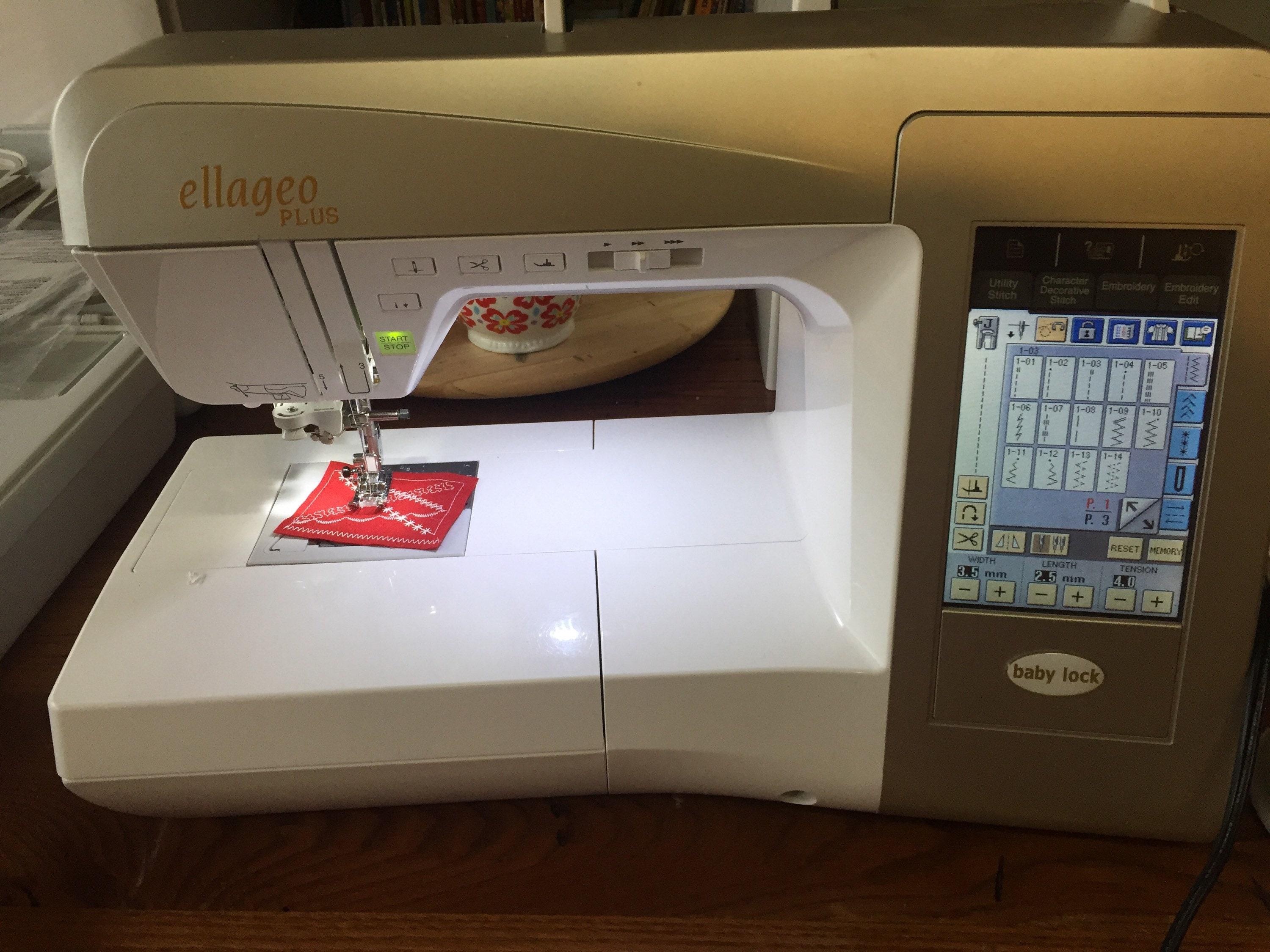 Babylock Ellageo Plus Sewing Quilting Abd Embroidery Machine