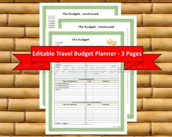 travel budget etsy