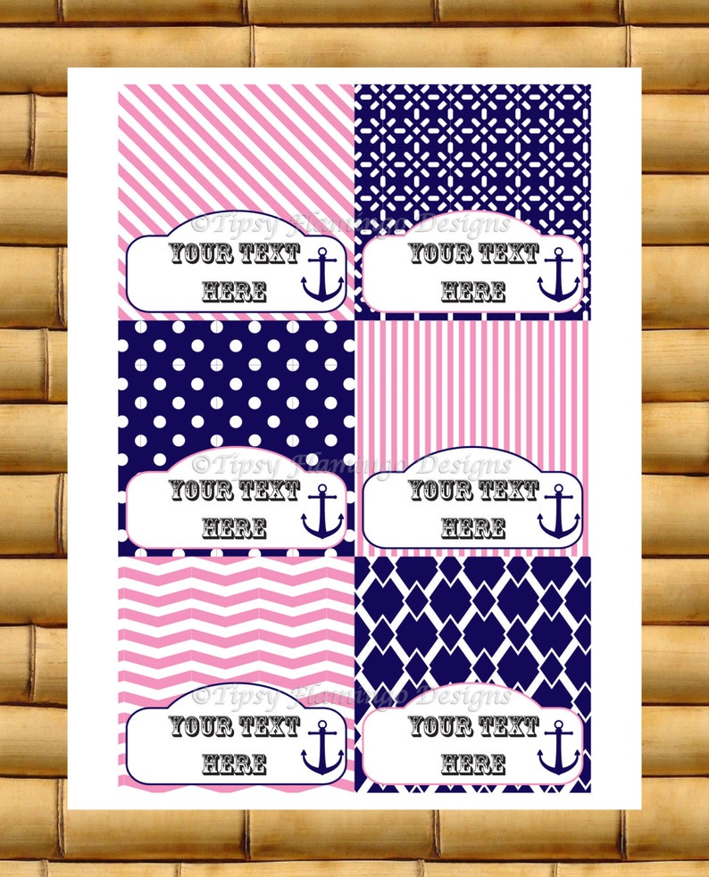 Party Food Tent Cards  Baby Wedding Shower Birthday Party image 0