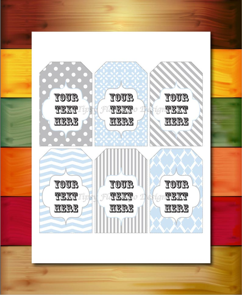 Gift Tags Thank You Tags Party Favor Tags Baby Shower image 0
