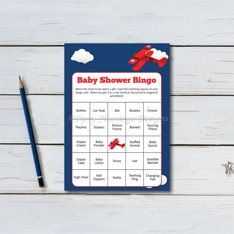 Baby Shower Bingo Baby Shower Game 30 Game Cards Baby image 0