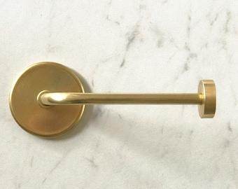 Toilet Paper Holder • Handmade Brass Toilet Roll Holder • Modern Brass Tissue Holder