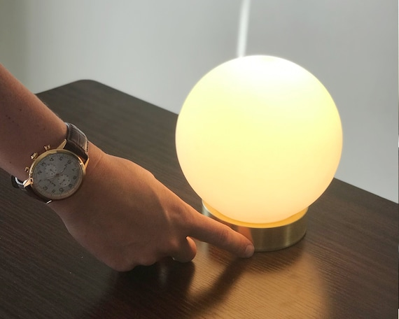 Modern Globe Table Lamp Touch Sensor, Touch Nightstand Lamps