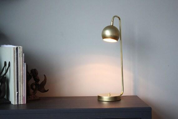 Modern Brass Lamp Quiet Sid Task Lamp Mid Century Etsy