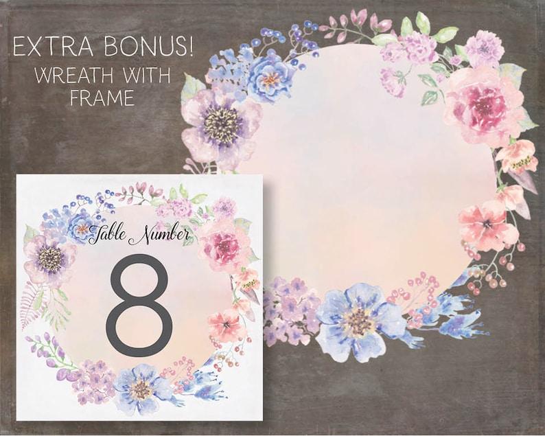 wreath in pastel tones; Sunset Hues; wedding clip art; weddings; watercolor wreath; instant download Watercolor floral clip art