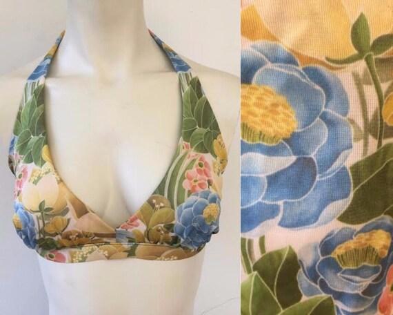 70s does 40s swimsuit, 40s inspired 2 piece bikin… - image 3